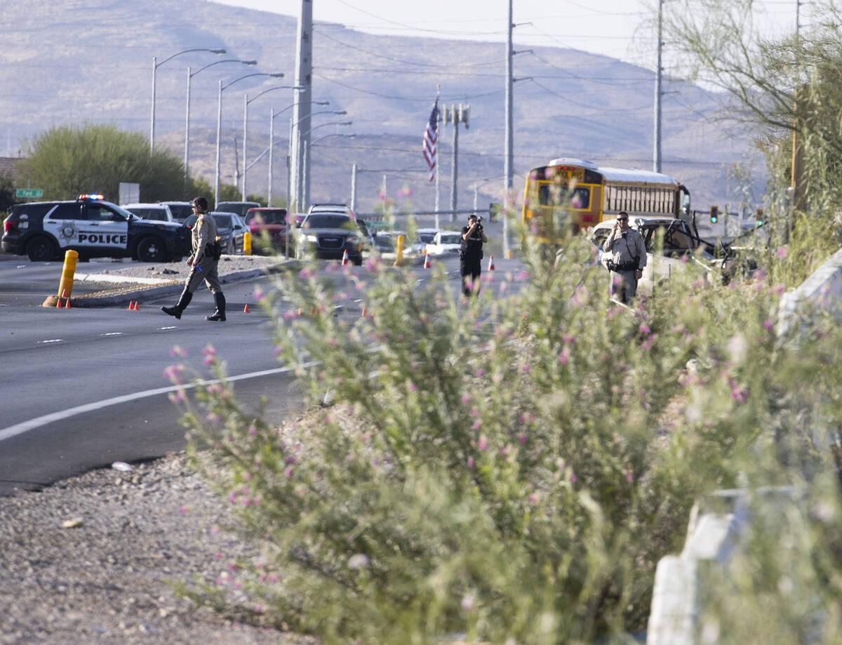 The Metropolitan Police Department investigates a fatal crash at the intersection of Durango Dr ...