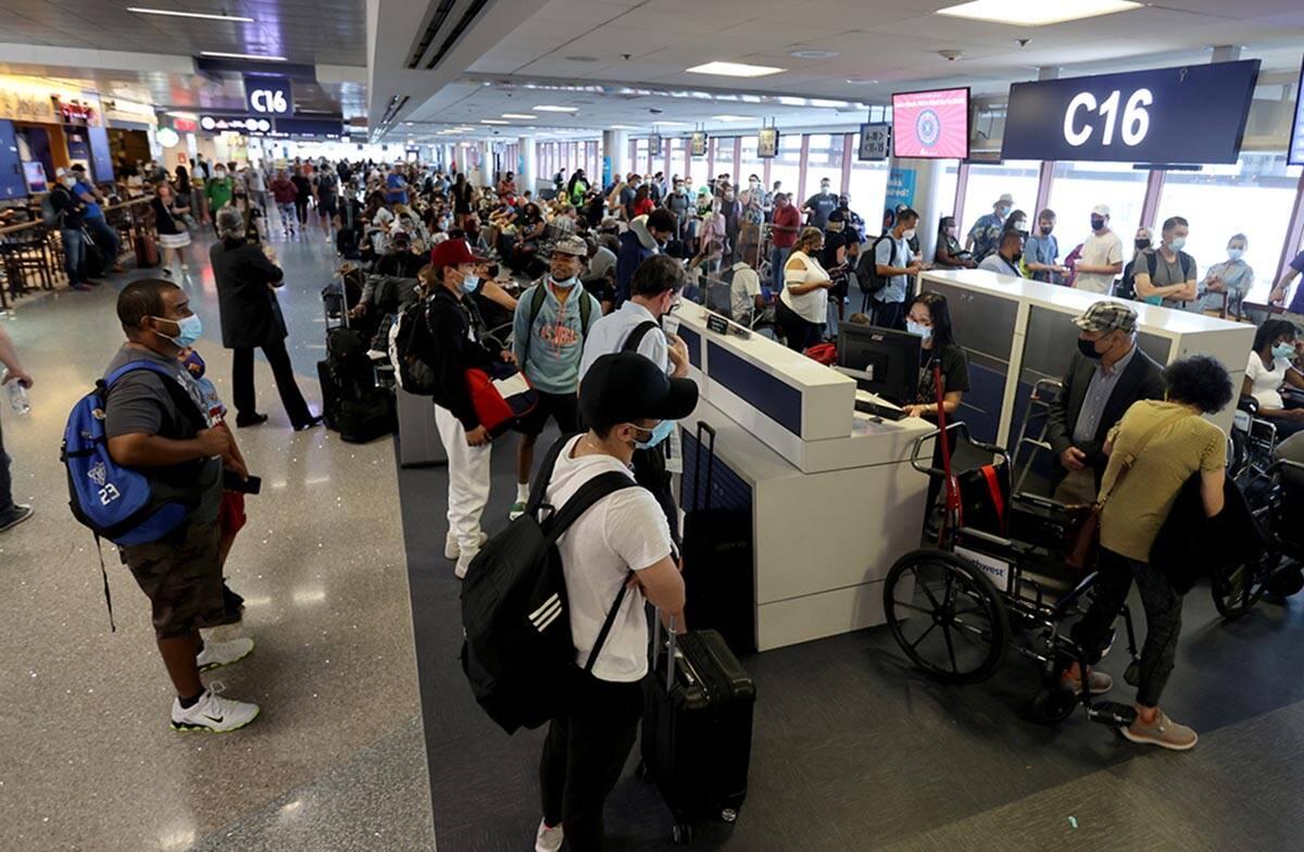 In August 3.8 million travelers passed through McCarran International Airport's gates. (K.M. ...