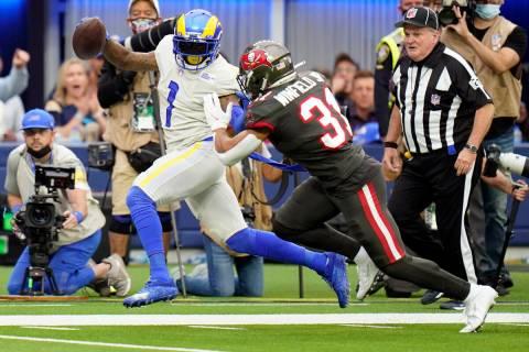 Los Angeles Rams wide receiver DeSean Jackson (1) runs past Tampa Bay Buccaneers safety Antoine ...