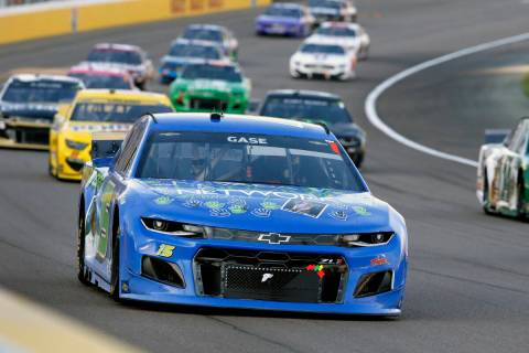 NASCAR Cup Series driver Joey Gase (15) drives during a NASCAR Cup Series auto race at the Las ...