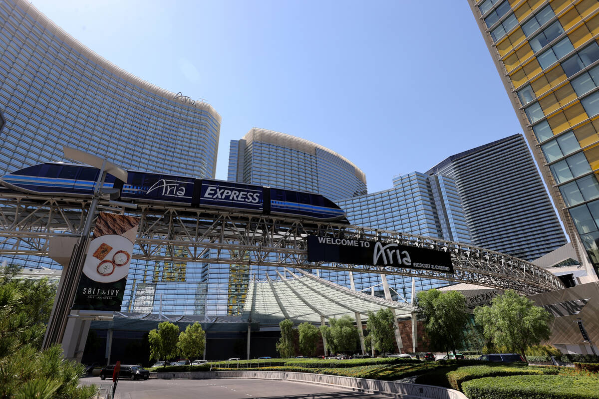 Aria and Vdara in Las Vegas Thursday, July 1, 2021. (K.M. Cannon/Las Vegas Review-Journal) @KMC ...