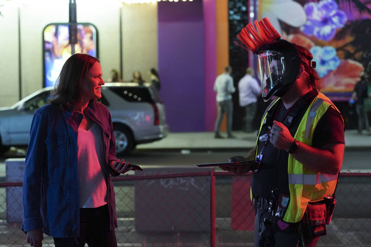 Behind the Scenes with Jorja Fox as Sara Sidle. (Michael Yarish/CBS)