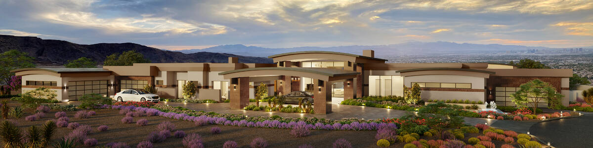 This artist's rendering shows a home under construction at 3 Heavens Edge Court by Sun West Cus ...