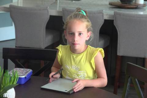 Madelyn Quinn, an 8-year-old heart transplant recipient and aspiring golfer from San Clemente, ...