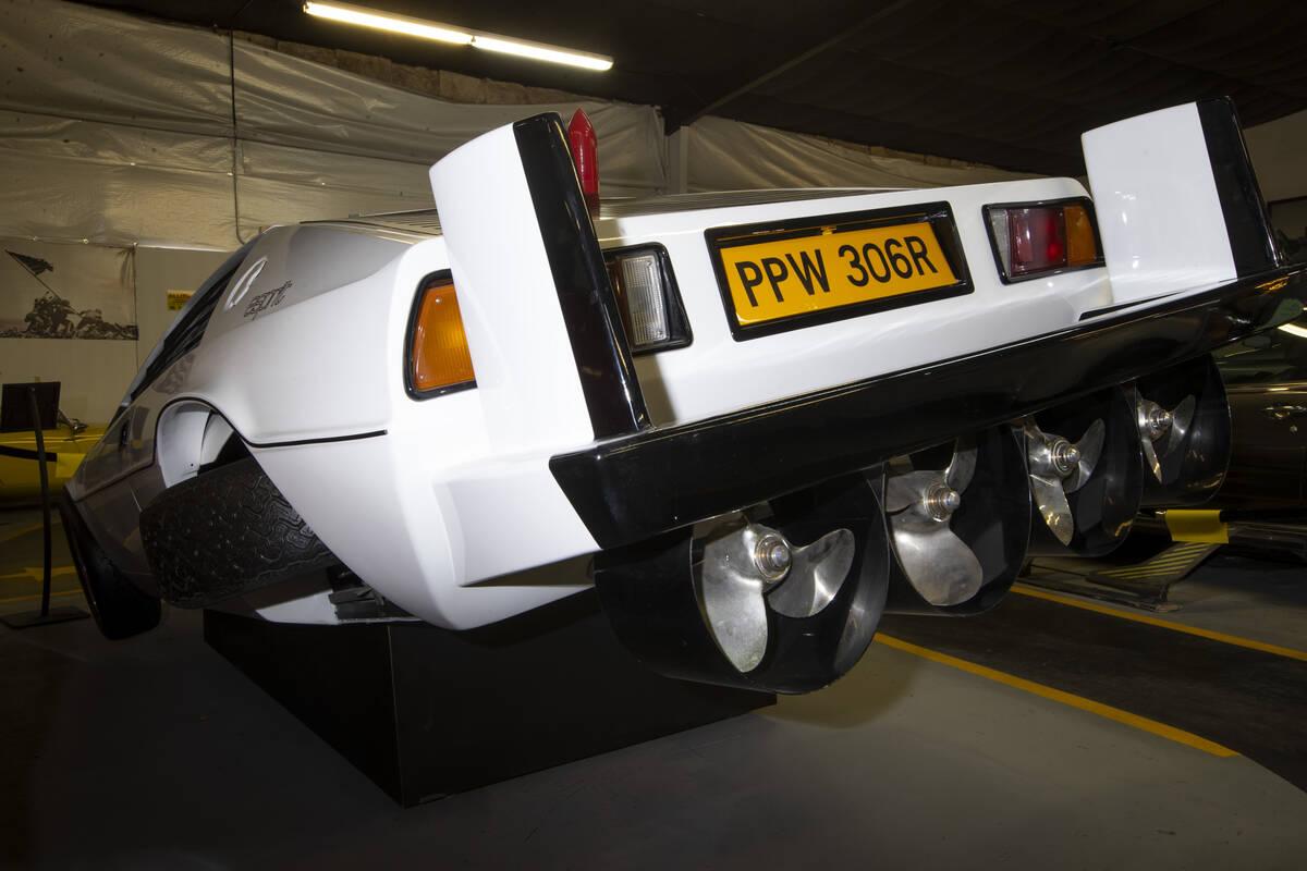 A James Bond filmLotus Espirit Submarine Car is showcased at the Hollywood Cars Museum in Las V ...