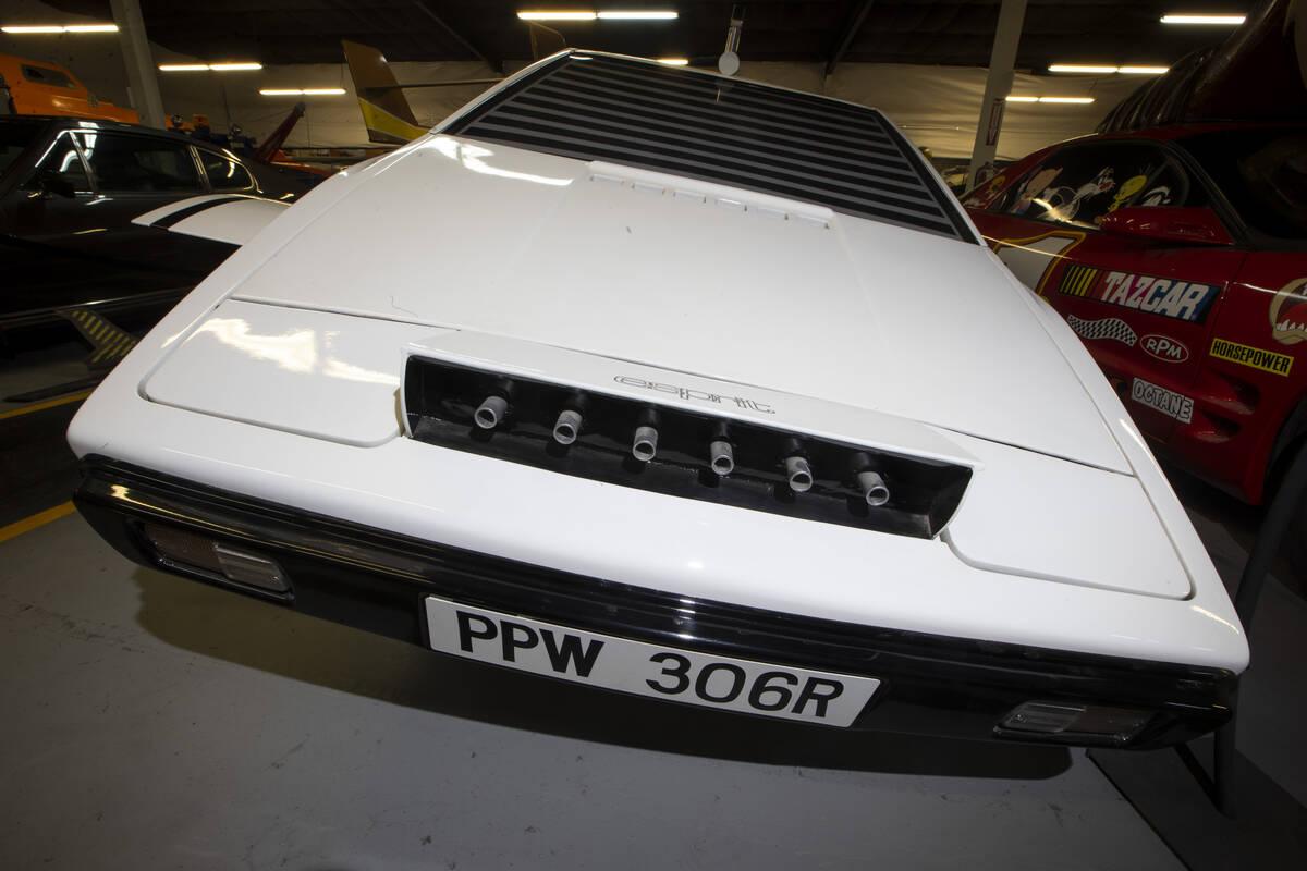 A James Bond film Lotus Espirit Submarine Car is showcased at the Hollywood Cars Museum in Las ...