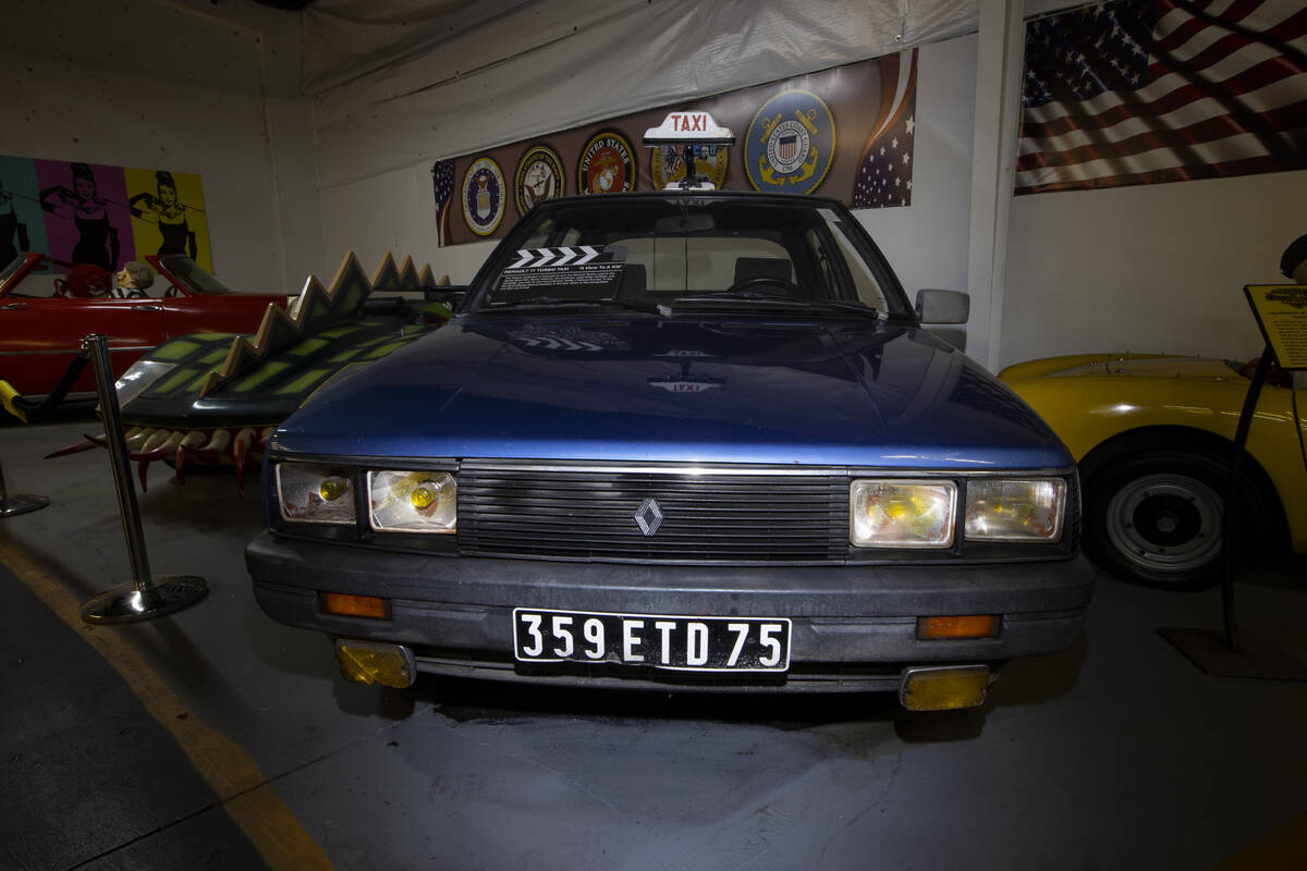 A James Bond film 1985 Renault is showcased at the Hollywood Cars Museum in Las Vegas, Thursday ...