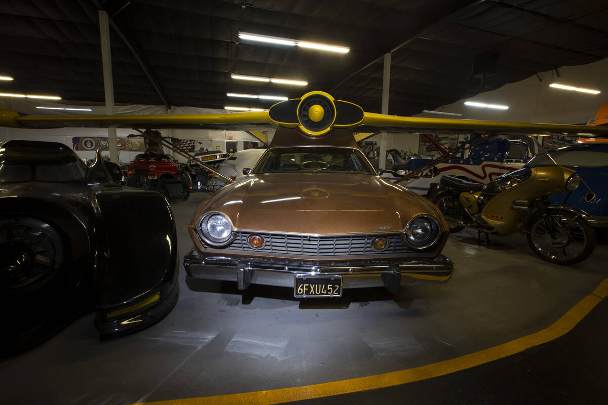 A Flying AMC Matador Coupe inspired by a James Bond film is showcased at the Hollywood Cars Mus ...