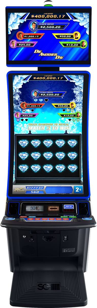 One of several James Bond-themed slot machines from Scientific Games. (Scientific Games)