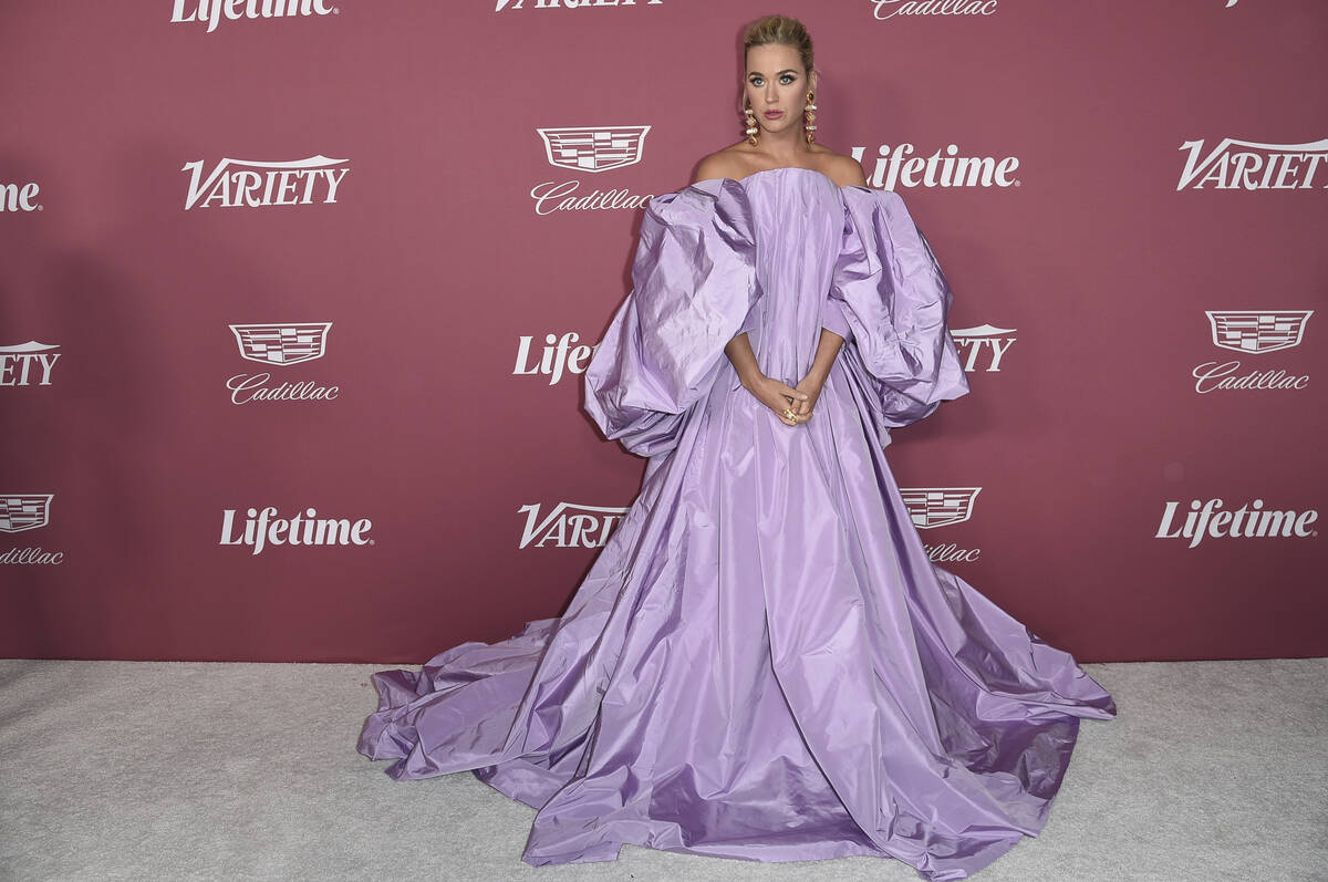 Katy Perry arrives at Variety's Power of Women: Los Angeles on Thursday, Sept. 30, 2021, at the ...