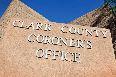 The monument sign for the Clark County Coroner. (Las Vegas Review-Journal, file)