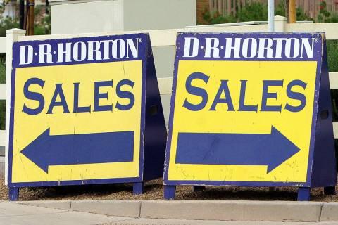 D.R. Horton sales signs. (Las Vegas Review-Journal/file)