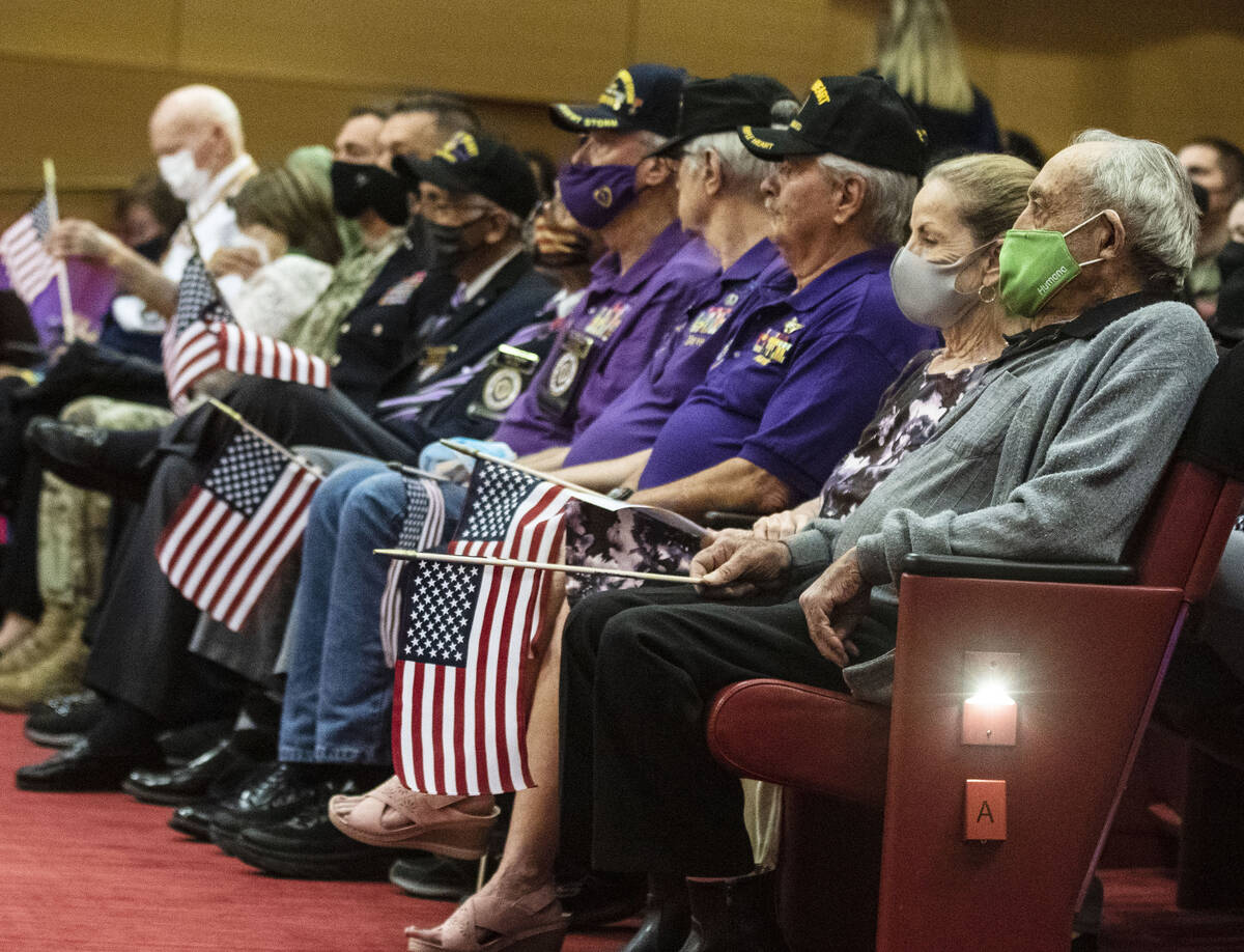 A 98-year-old World War II veteran, Onofrio Zicari, right, and his girlfriend Dianna Fazendin s ...