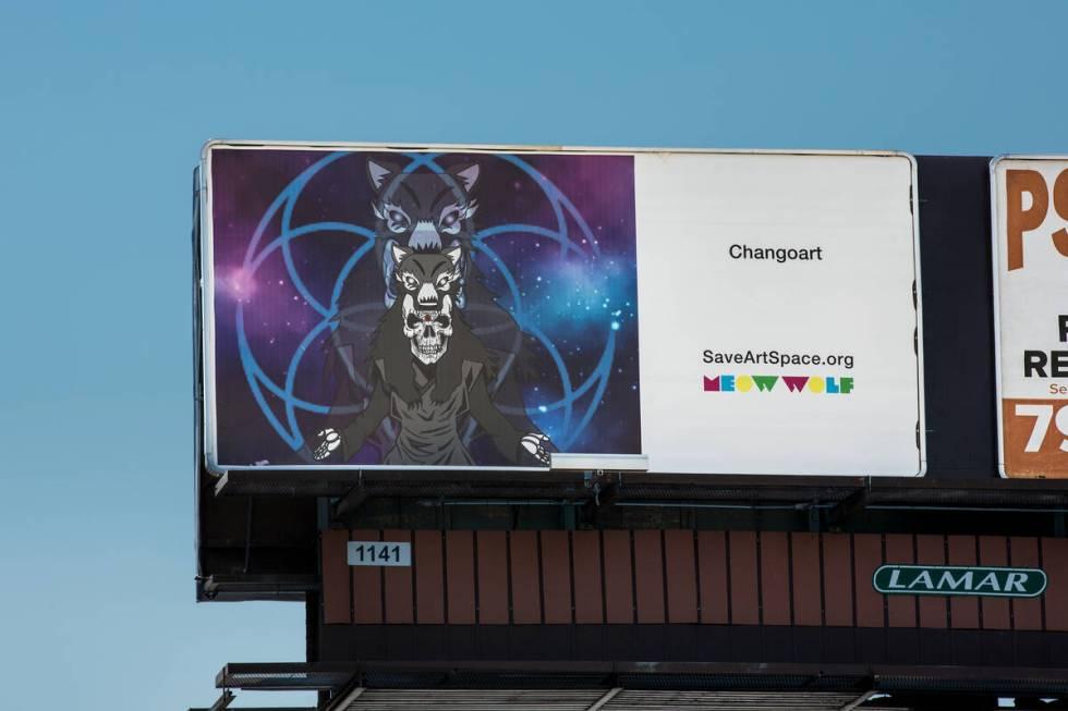 Billboard oleh Changoart (Christopher DeVargas untuk Meow Wolf) 3305 S Decatur Blvd