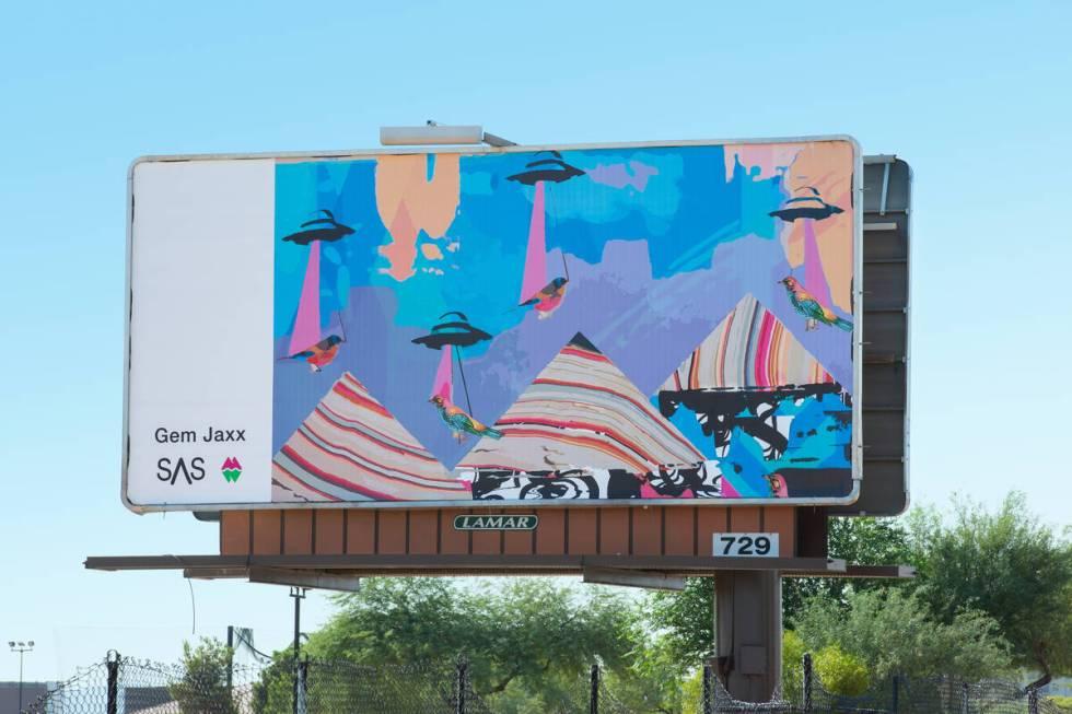 Billboard oleh Gem Jaxx (Christopher DeVargas untuk Meow Wolf) 6593 S Las Vegas Blvd