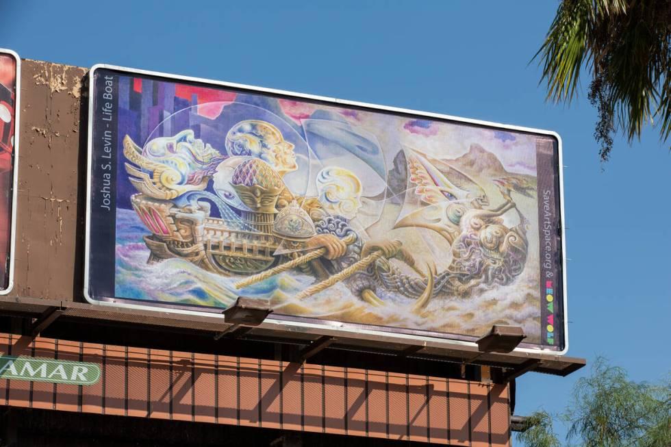 Billboard oleh Joshua S. Levin (Christopher DeVargas untuk Meow Wolf) 1920 E Sahara Ave