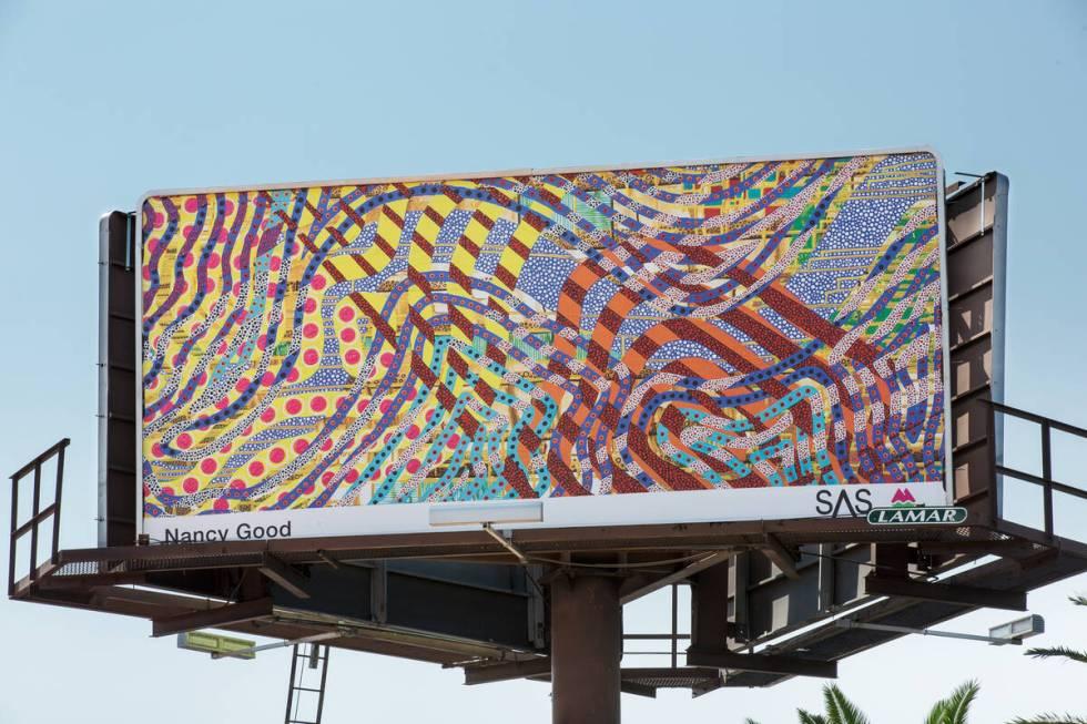 Billboard oleh Nancy Good (Christopher DeVargas untuk Meow Wolf) 3355 Spring Mountain Rd