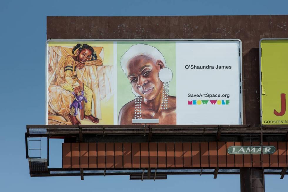 Billboard oleh Q'Shaundra James (Christopher DeVargas untuk Meow Wolf) 3152 S Highland Dr