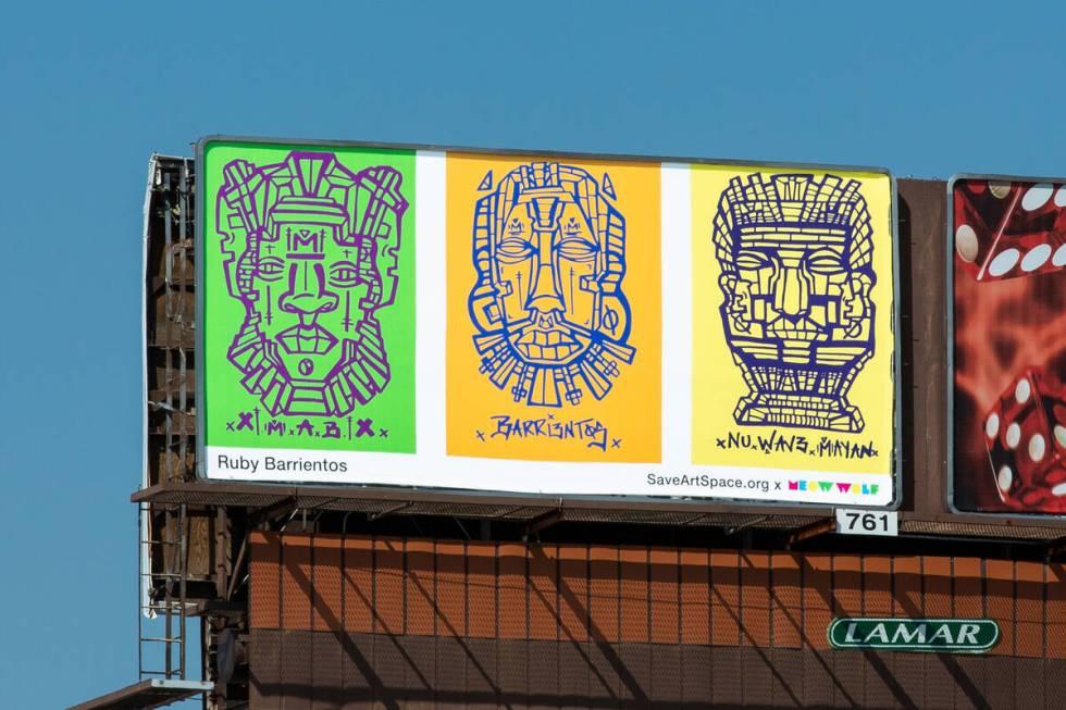 Billboard oleh Ruby Barrientos (Christopher DeVargas untuk Meow Wolf) 3890 W Tropicana Ave