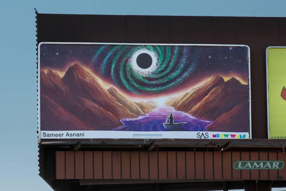 Billboard oleh Sameer Asnani (Christopher DeVargas untuk Meow Wolf) 3641 W Sahara Ave