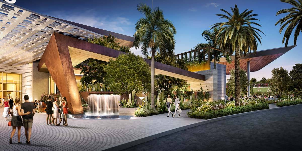 A rendering shows the exterior of the planned Durango, a Station Casinos Resort. (Station Casinos)