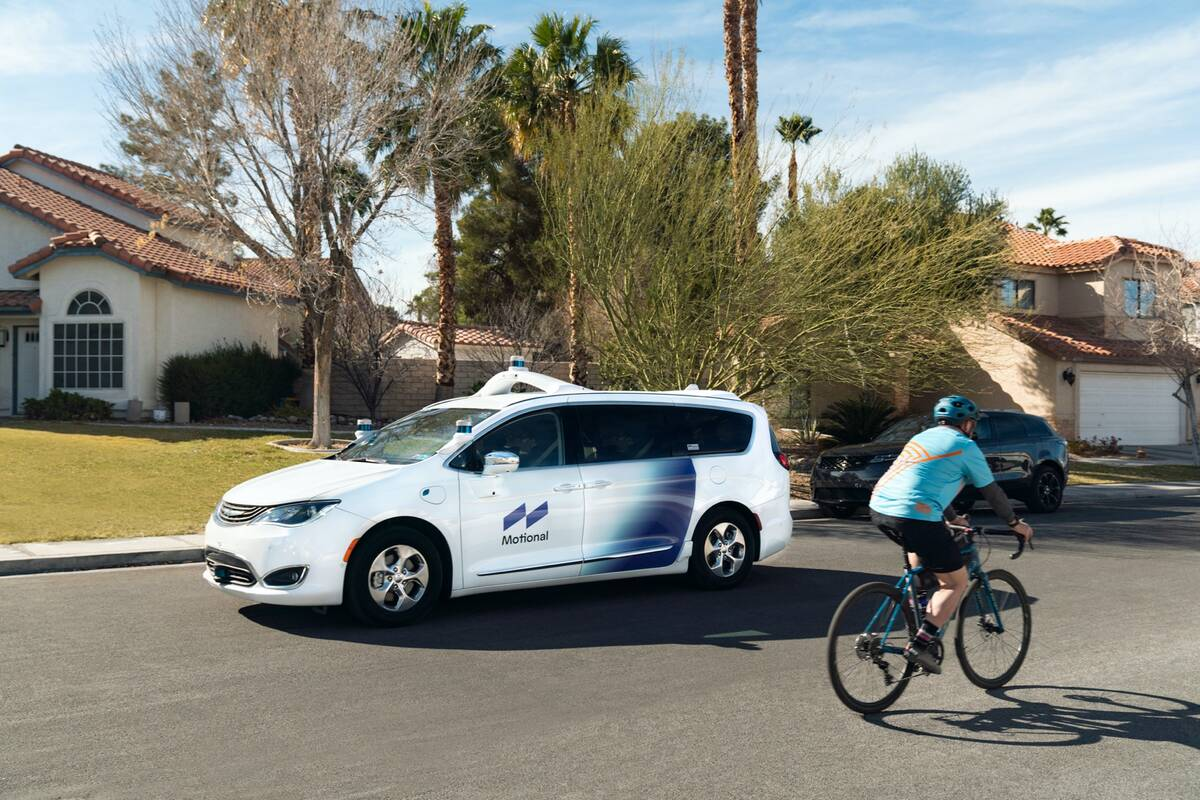 Motional conducted the first driverless test drives of autonomous vehicles in Las Vegas on subu ...
