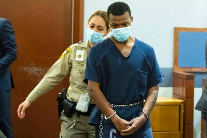 Chance Wilson, charged with fatally shooting his brother, Dailin Wilson, inside Hilton Grand Va ...