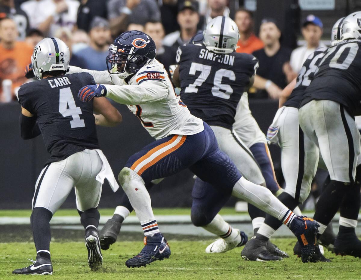 Bears' Khalil Mack dominates former Raiders team   Las Vegas Review-Journal