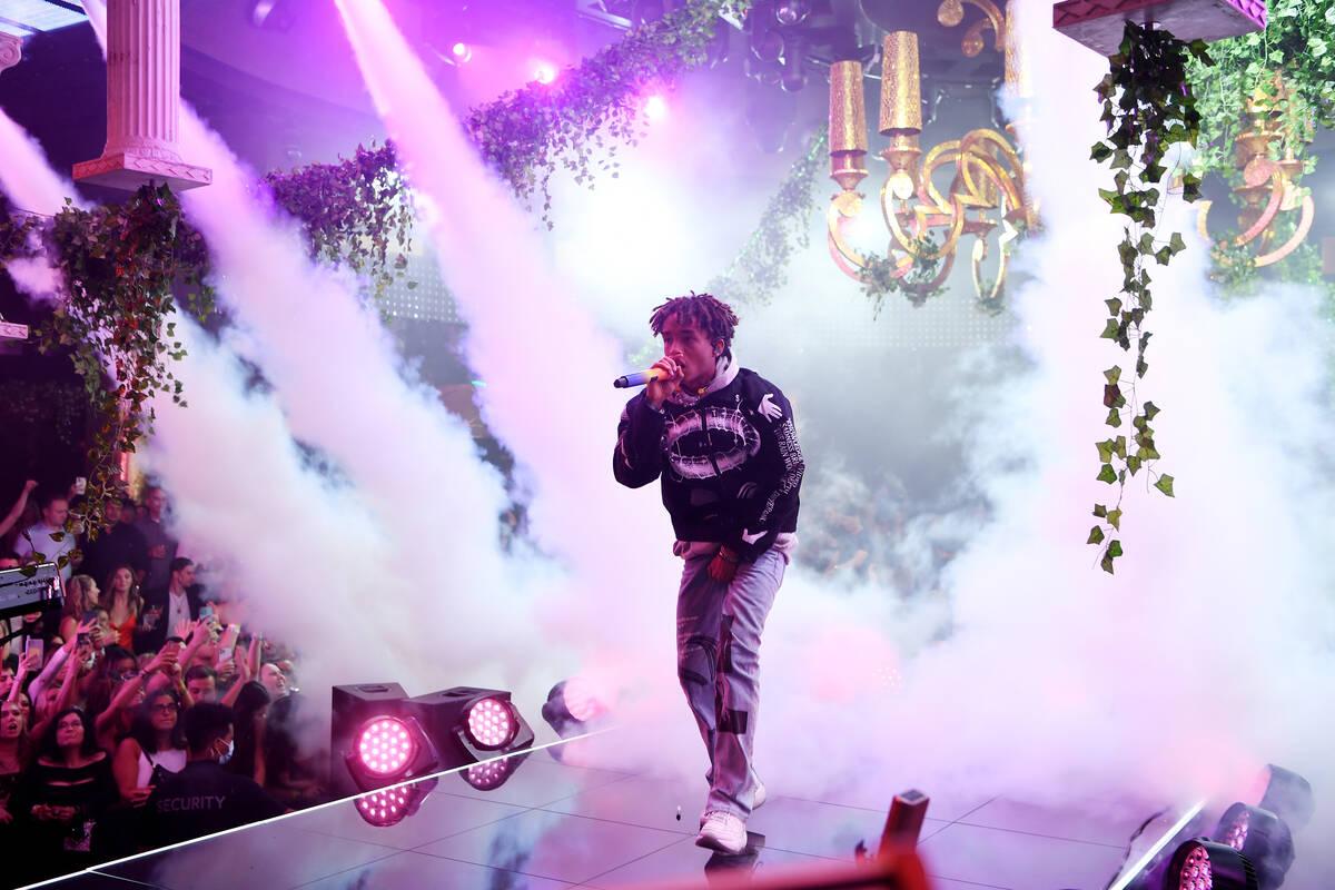 "Jaden Smith performs at XS Nightclub at Wynn Las Vegas on Oct. 9 as part of ""Justin Bieber & Fr ..."