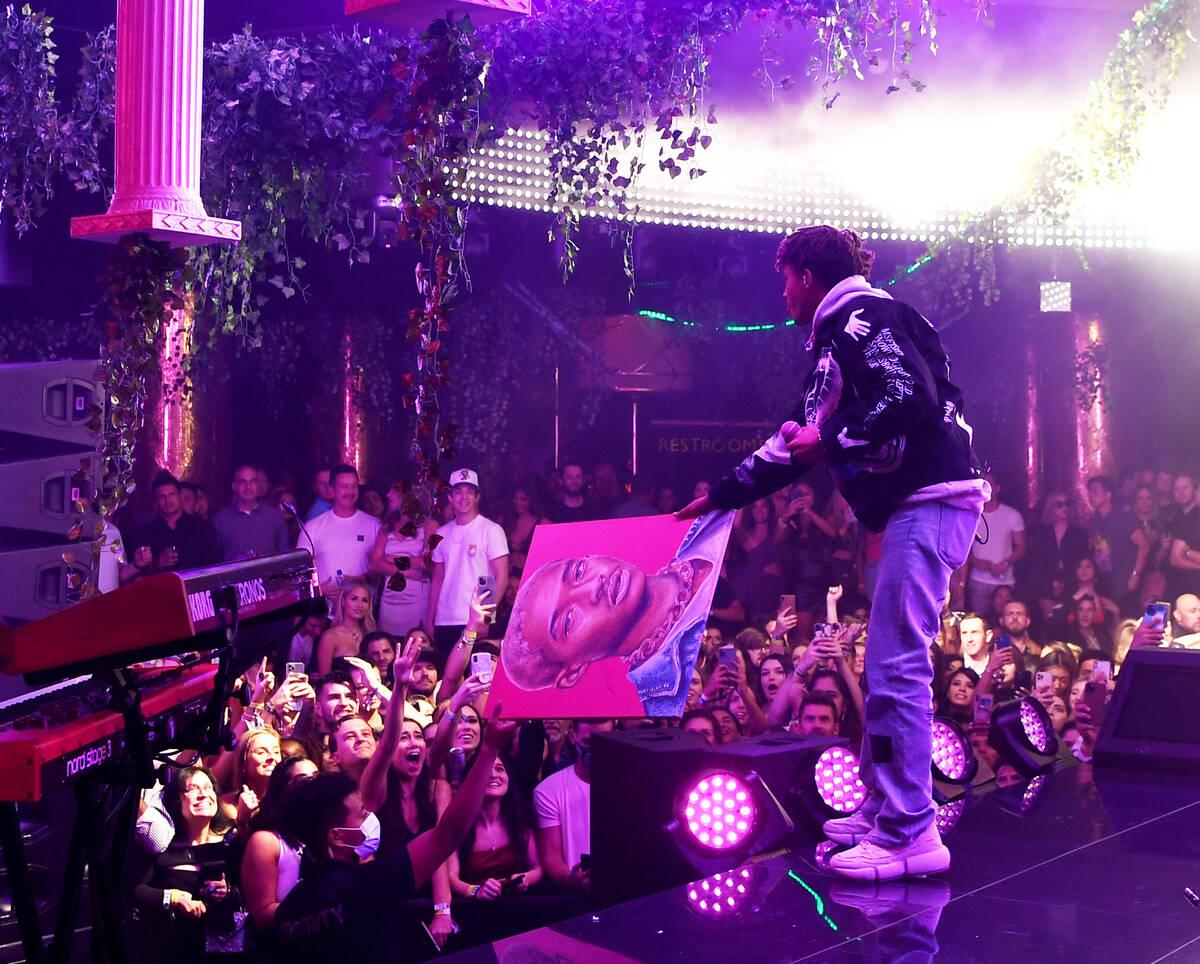 "Jaden Smith performs at XS Nightclub at Wynn Las Vegas as part of ""Justin Bieber & Friends, The ..."