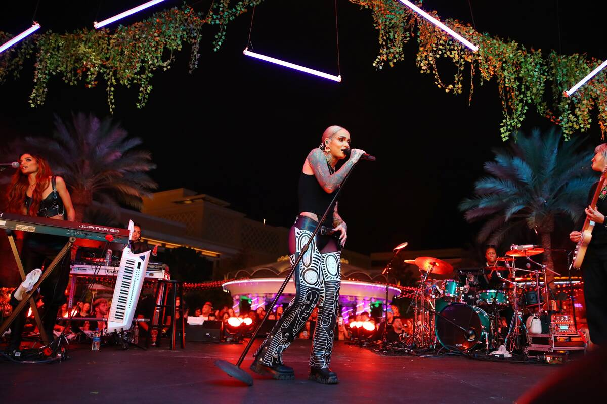 "Kehlani Pop performs at XS Nightclub at Wynn Las Vegas as part of ""Justin Bieber & Friends, The ..."