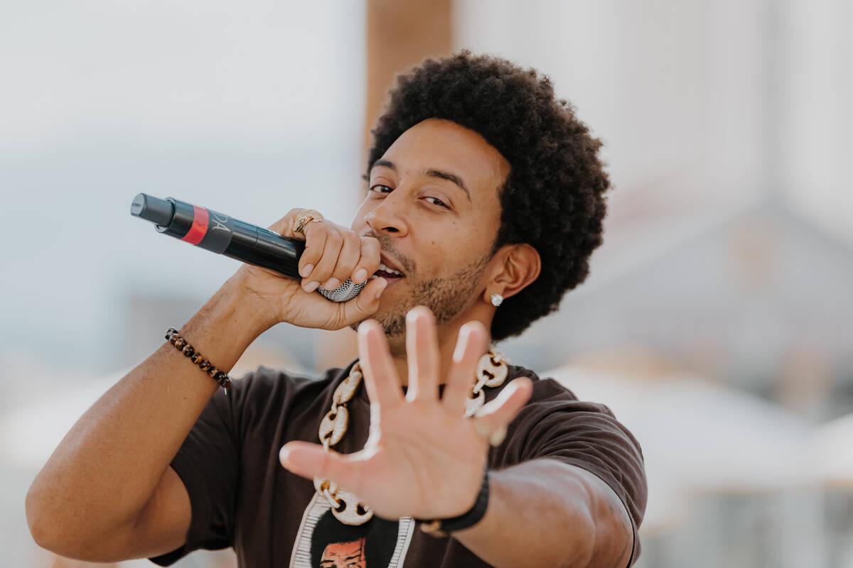 Ludacris is shown in his return to Drai's Live on Friday, Oct. 8, 2021. (Radis Denphutaraphrechar)