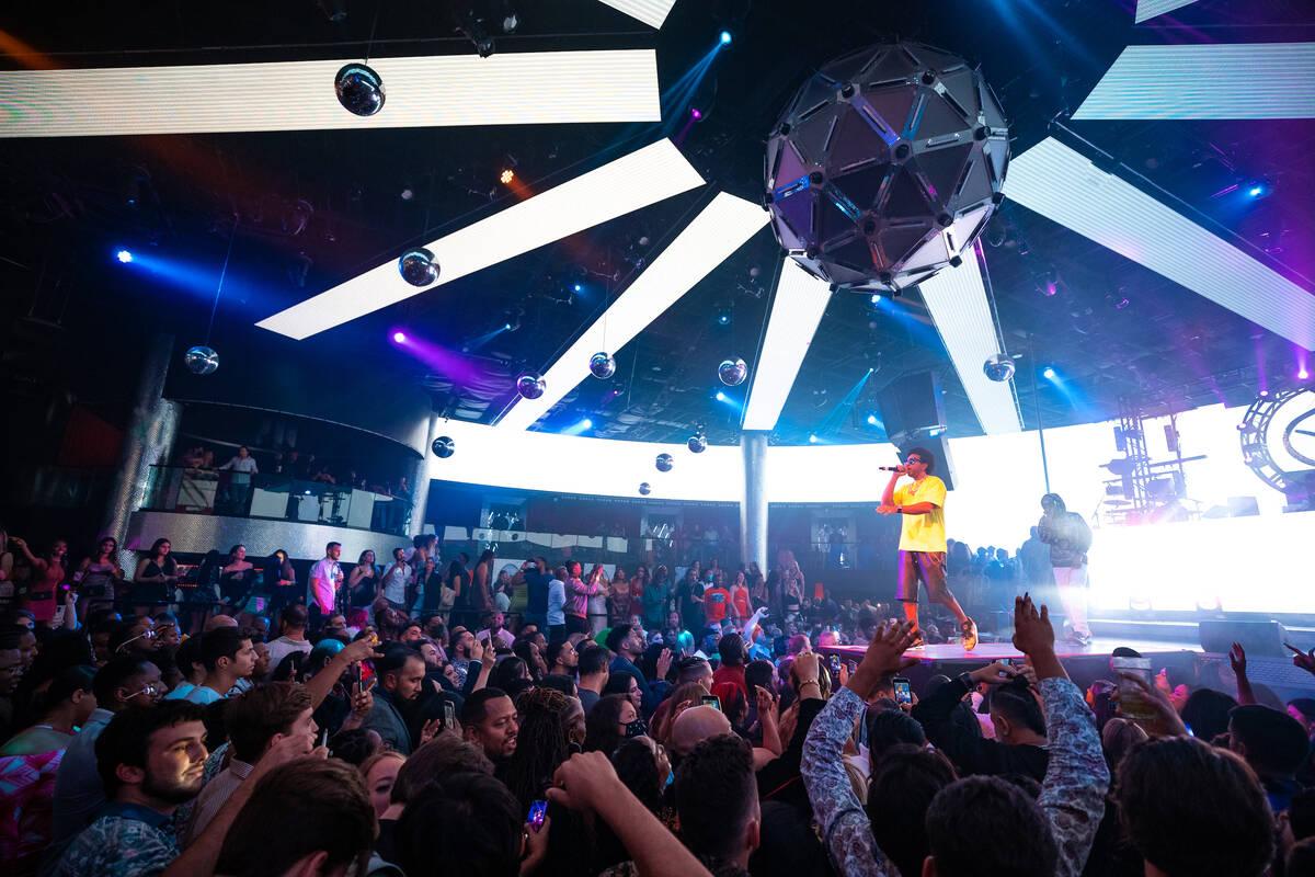 Ludacris is shown during his return to Drai's Nighclub on Saturday, Oct. 9, 2021. (Mike Kirschbaum)