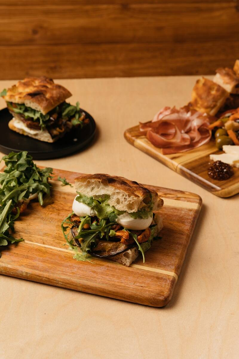 A selection of sandwiches at Via Foccacia at Ellis Island. (Ellis Island)