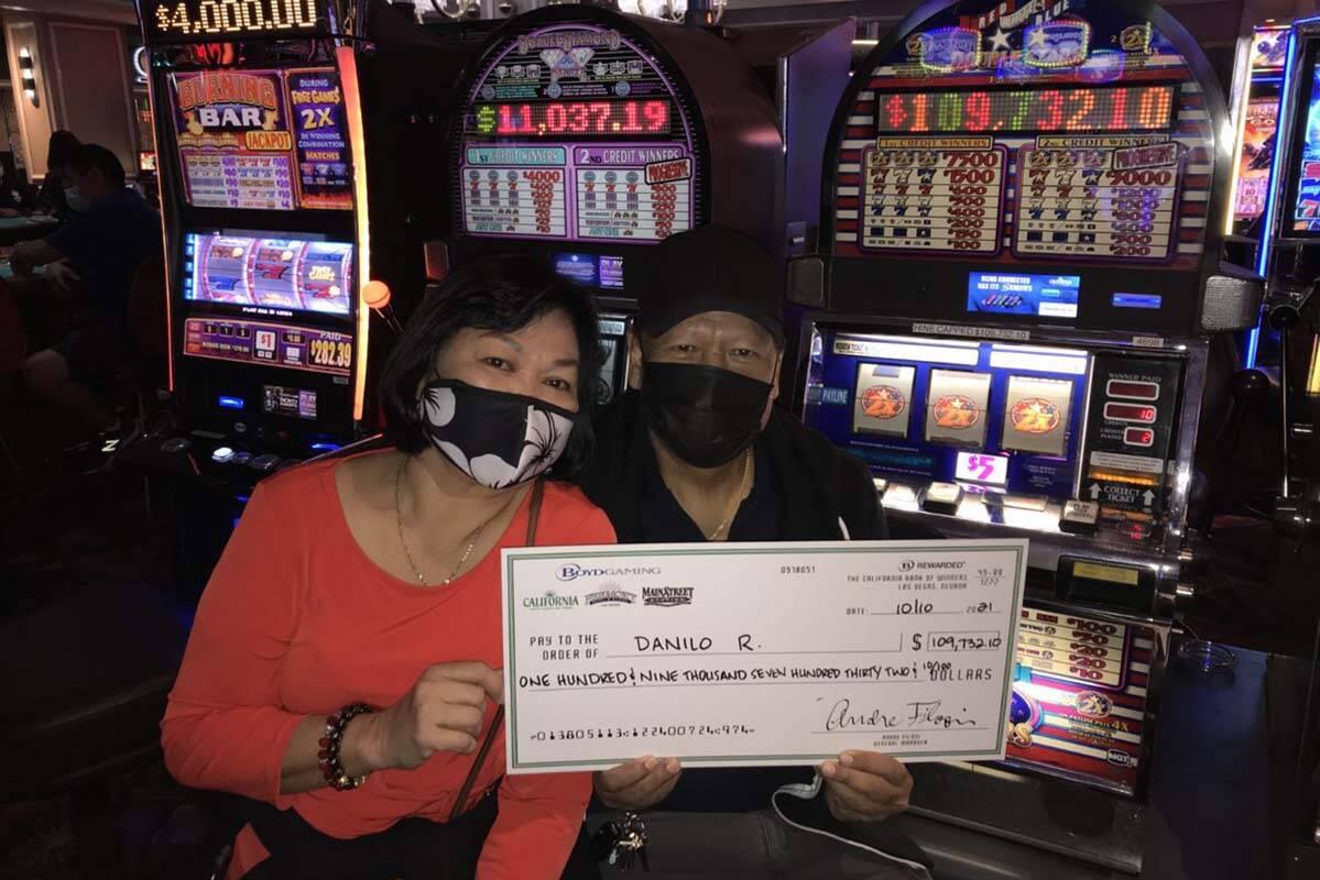 Danilo R. won a $109,732 jackpot at California Hotel. (Boyd Gaming)