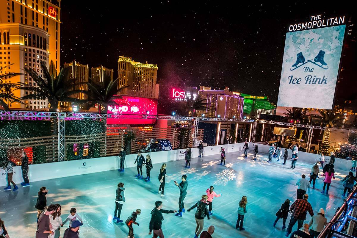 The ice skating rink at The Cosmopolitan of Las Vegas will reopen in November at the Las Vegas ...