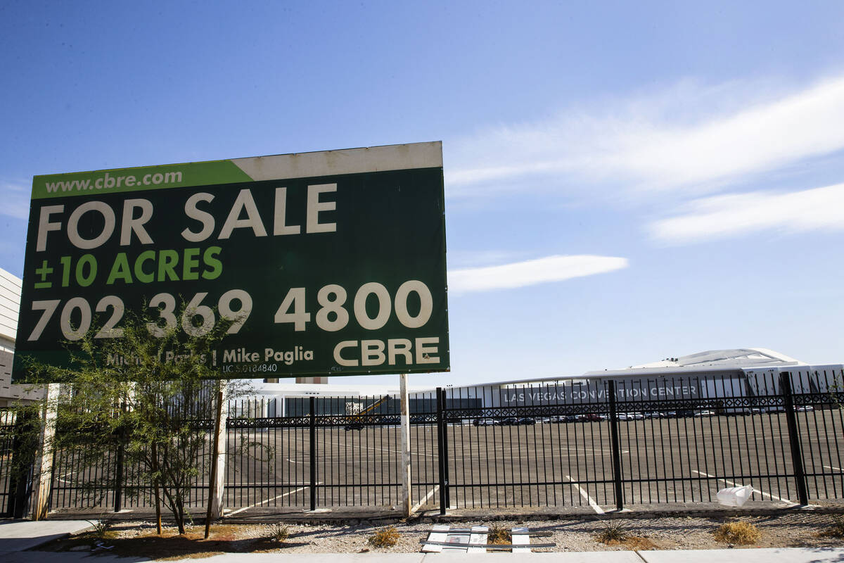 A 10-acre parcel that the Las Vegas Convention and Visitors Authority is selling for $120 milli ...