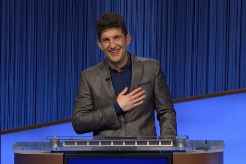 """Jeopardy!"" champion Matt Amodio, seen in September 2021. (Jeopardy Productions Inc. via AP)"