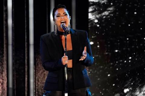 Demi Lovato performs during the 2021 Global Citizen Live event, Saturday, Sept. 25, 2021, at th ...