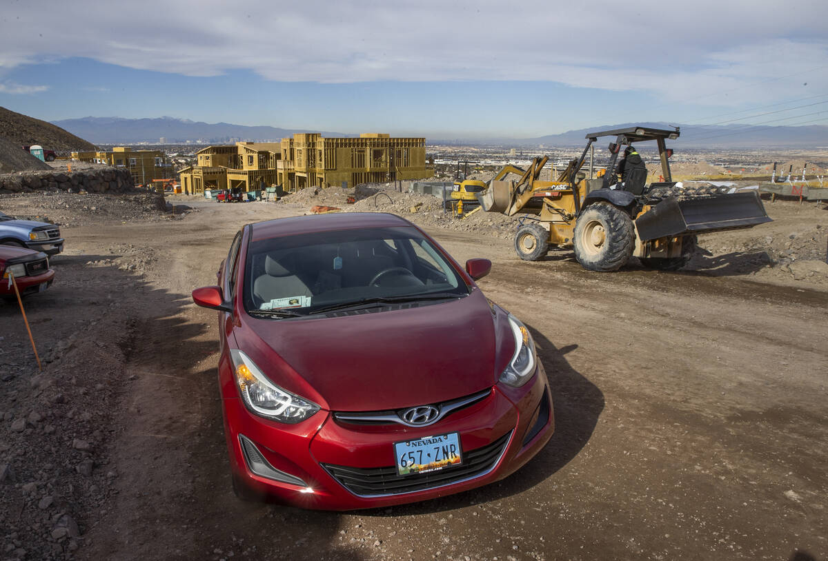 Jawaher Hejji's car, shown on Wednesday, Jan. 6, 2021, was left at this spot near the Amargosa ...
