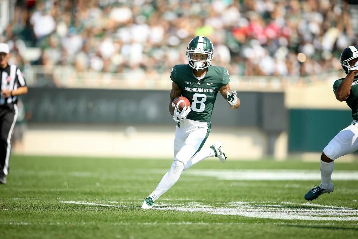 Former Bishop Gorman star Jalen Nailor caught three long touchdown passes in Michigan State's 3 ...