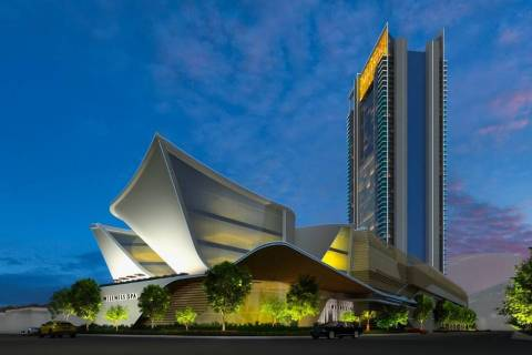 Developer Lorenzo Doumani plans to build the 720-room Majestic Las Vegas, a rendering of which ...