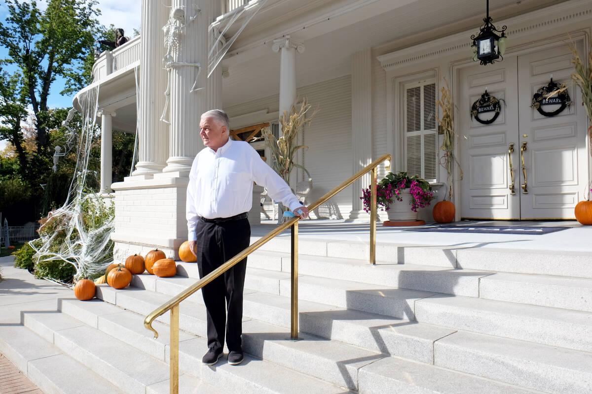 Nevada Gov. Steve Sisolak outside the governor's mansion in Carson City Wednesday. The mansion, ...