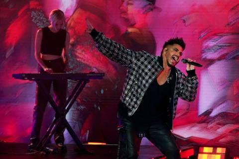 Singer Adam Lambert performs during the 2021 Global Citizen Live event, Saturday, Sept. 25, 202 ...