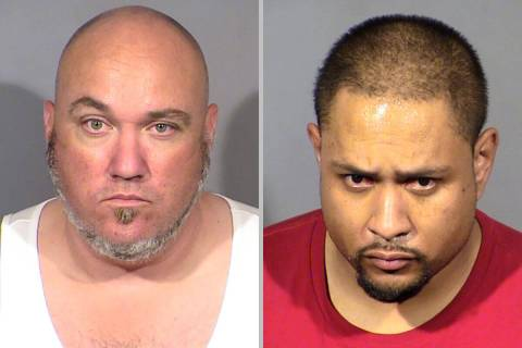 Robert Stice, left, and Shane Perry, both of Oregon, have been arrested in the detonation of a ...