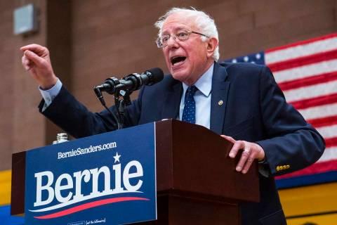 Sen. Bernie Sanders, I-Vt. (Chase Stevens/Las Vegas Review-Journal) @csstevensphoto