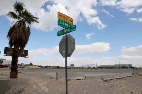 Vacant land adjacent to McCarran International Airport at Las Vegas Boulevard and Dewey Drive i ...