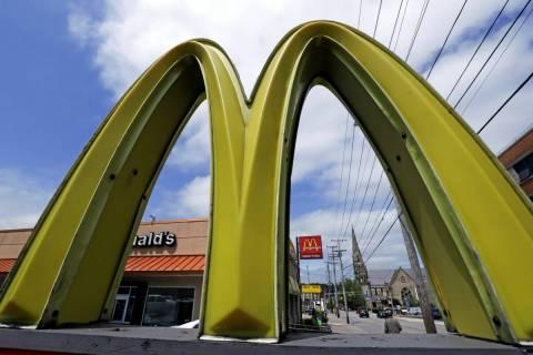 A McDonald's restaurant is seen on the northside of Pittsburgh in 2019. (AP Photo/Gene J. Puskar)
