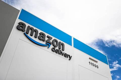 Amazon's facility at 11500 Bermuda Rd. on Thursday, April 1, 2021, in Henderson. (Benjamin Hage ...