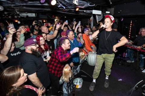 Pauly Shore and The Crustys are shown in the at Sand Dollar Lounge on Monday, Oct. 18, 2021. (C ...